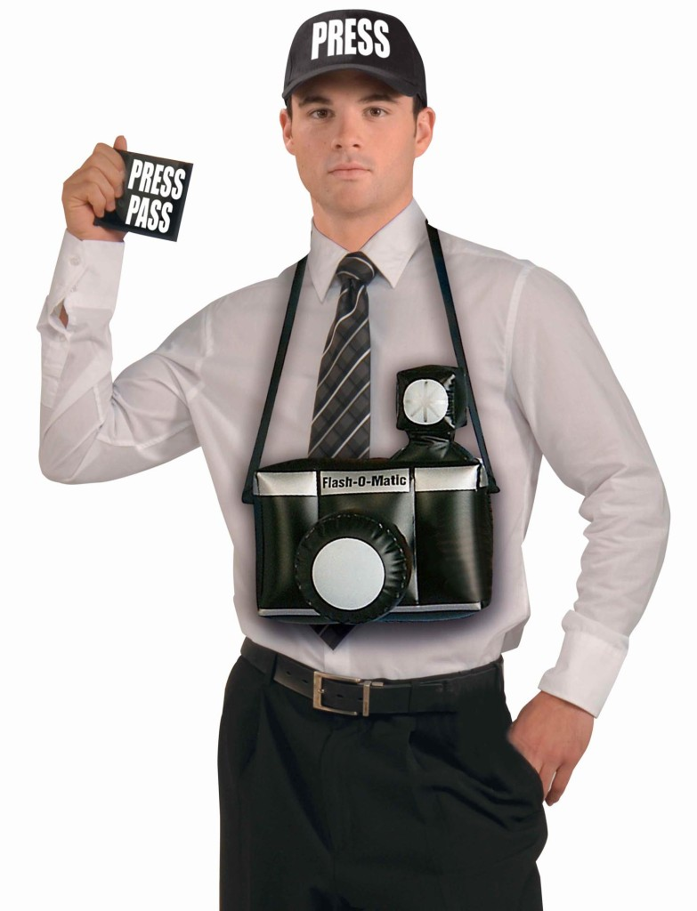 paparazzi press reporter inflatable camera cap press pass costume accessory kit. Black Bedroom Furniture Sets. Home Design Ideas