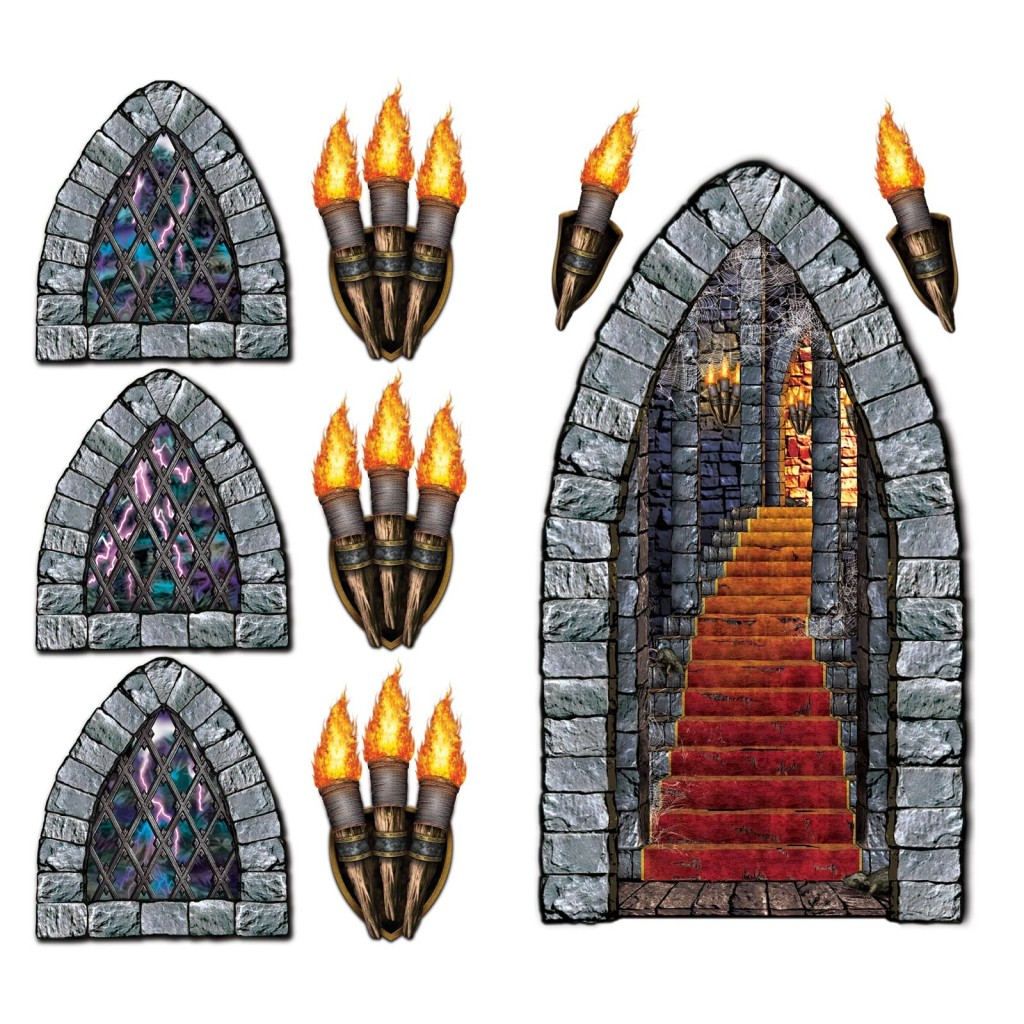 Wicked medieval castle pack of 9 insta theme scene setters for Decoration fenetre post it
