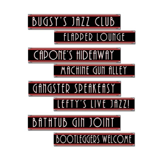 GANGSTER-FLAPPER-SIGN-CUT-OUTS-4-SIGNS-PRINTED-BOTH-SIDES-PARTY-DECORATIONS-NEW