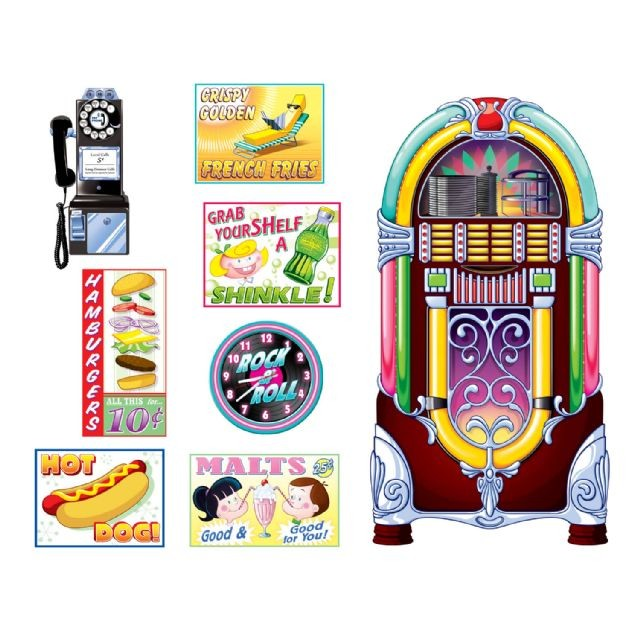 50 39 s soda shop signs jukebox insta theme scene setters for Decoration 50 s