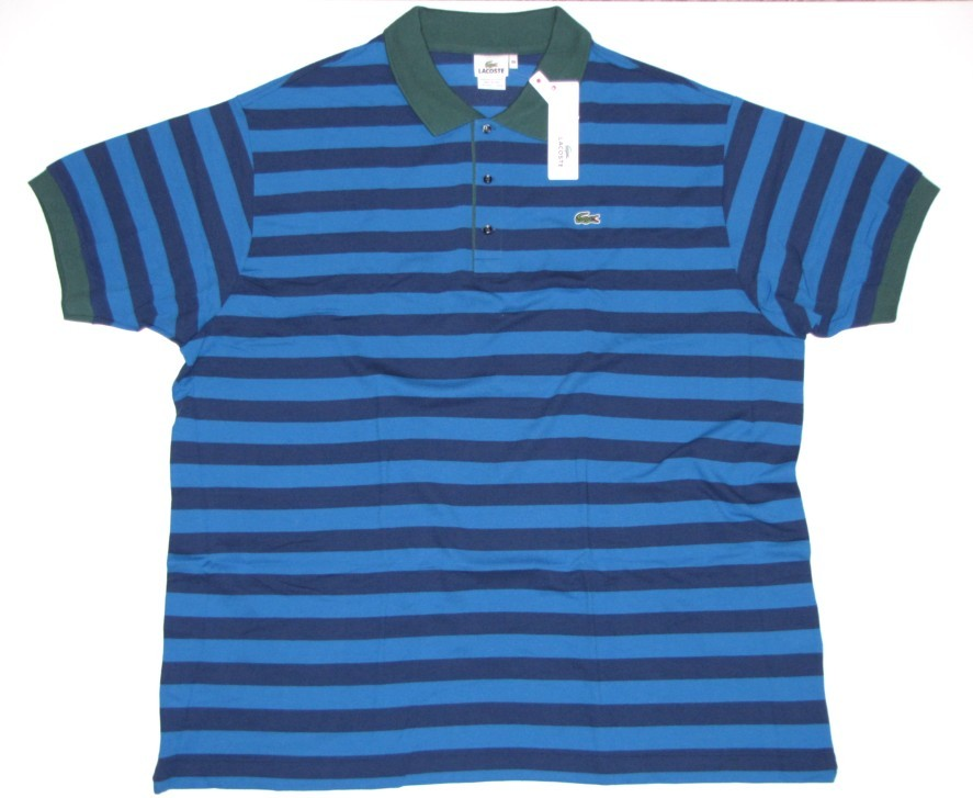 Nwt Lacoste Big Tall Mens Polo Shirt 11r 4xl Blue