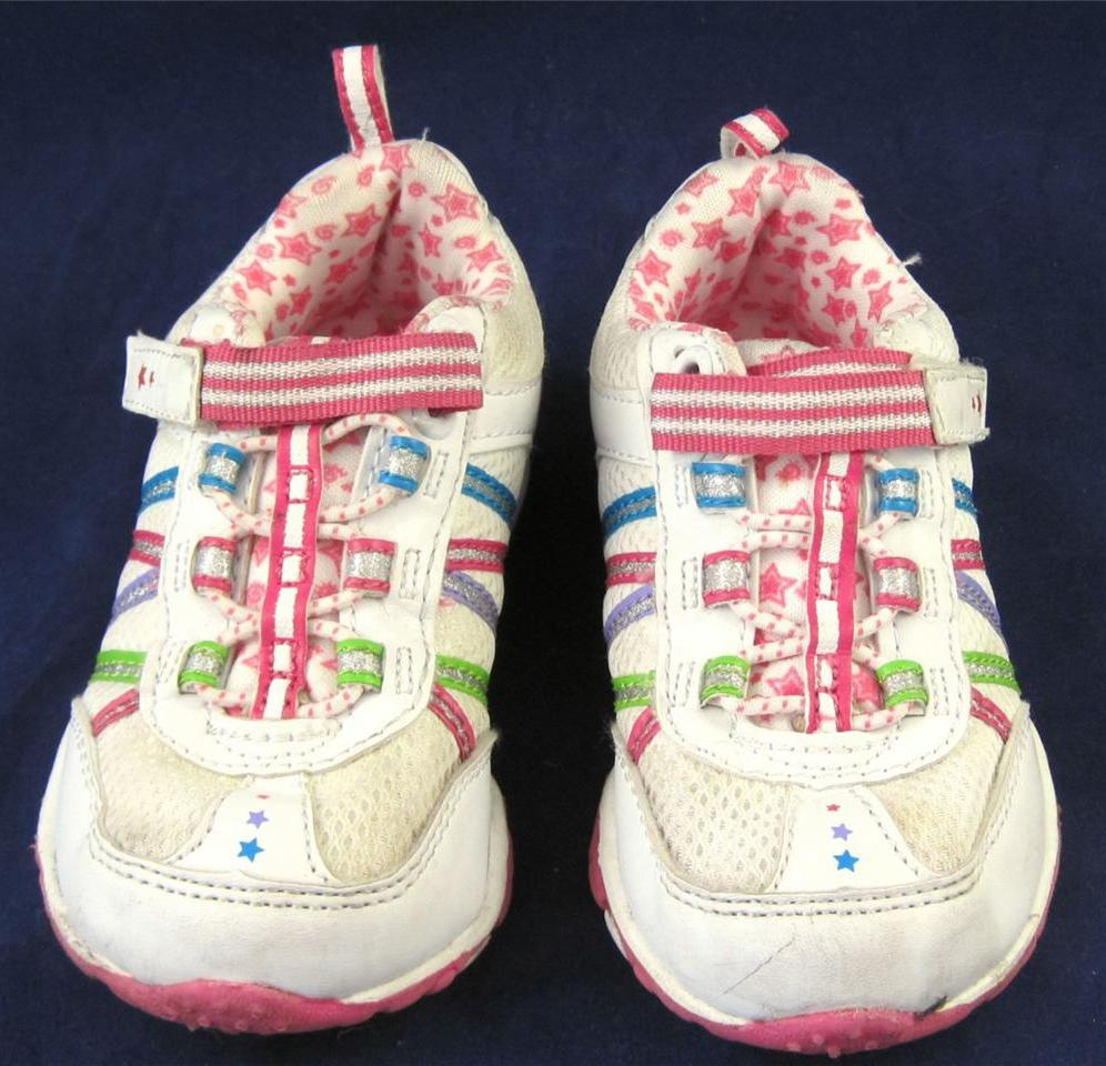 Wake-Zone-Baby-Girls-Sneakers-White-colourful-Trimming-Size-7
