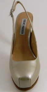 Steve Madden Staciee Black or Beige Leather Heels Shoes
