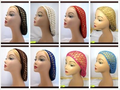 Crochet Hair Net Snood : Pick 5 Soft Rayon Snood Hair Net Crocheted Hair Net UP5 eBay