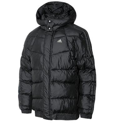 Boys Adidas Black Warm Downlike Hoody Hooded Jacket Bomber Coat RRP U00a350 | EBay