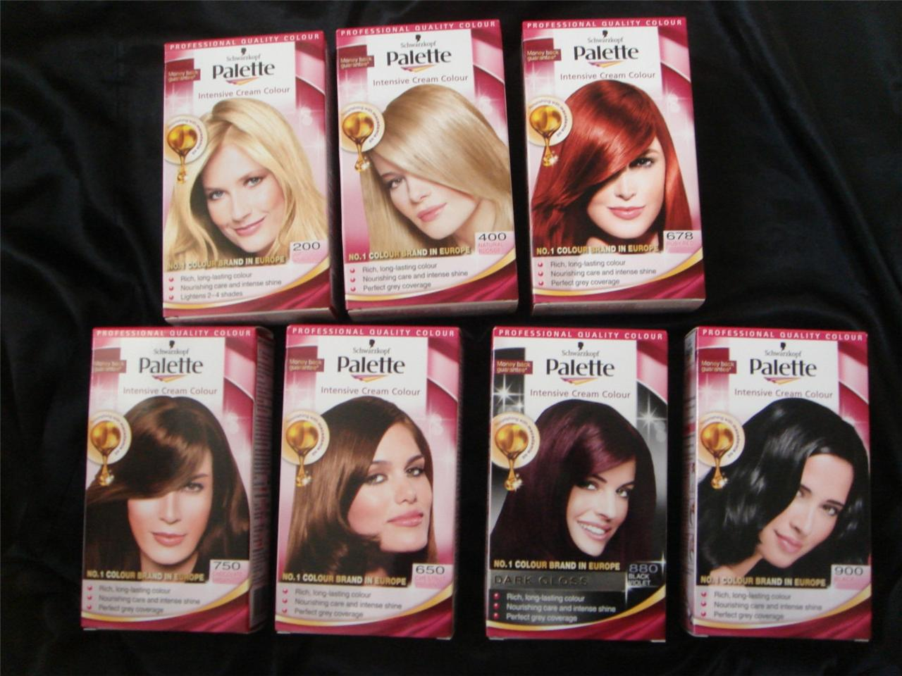 Краска для волос мусс палет палитра цветов фото