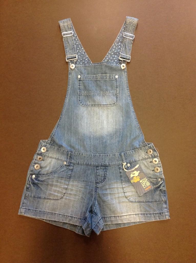 Noble-Blue-Denim-Short-Shorts-Overalls-Romper-Juniors-29-99-NEW-FOC123