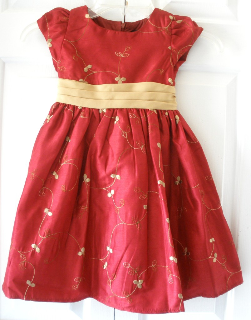 George girls red gold christmas holiday party pageant dress sizes 5 16