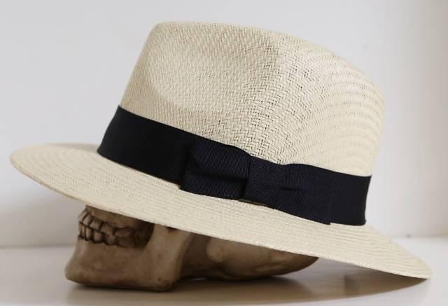 FD166 Classic 50's Ivory Straw Panama Cuban Round Wide Flat Brim Fedora Band Hat