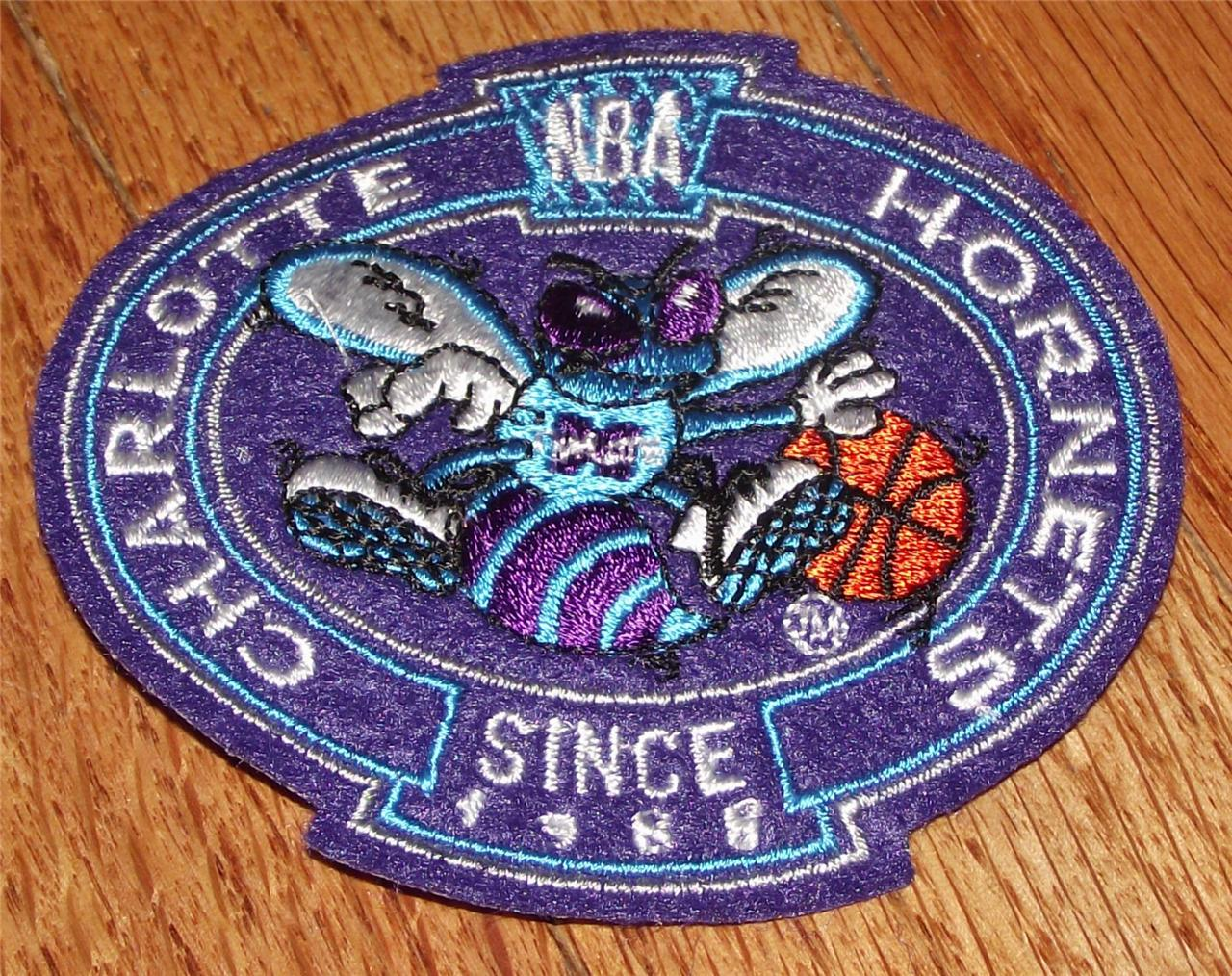 New charlotte hornets crest logo polo sized embroidered
