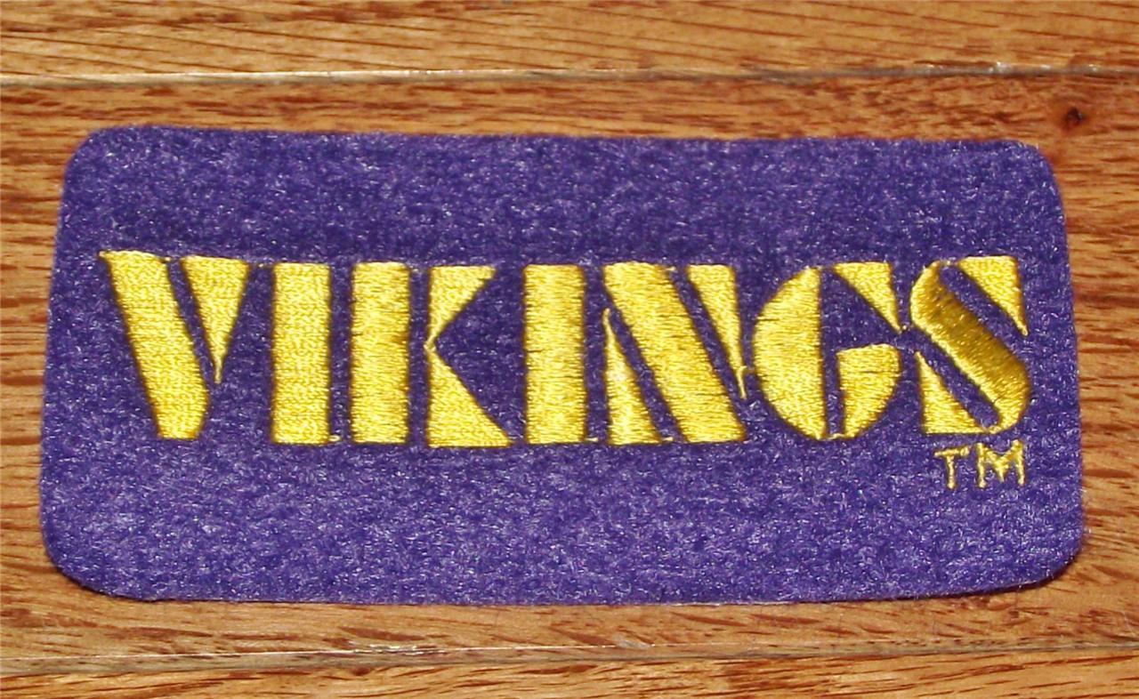 New minnesota vikings block logo patch quot