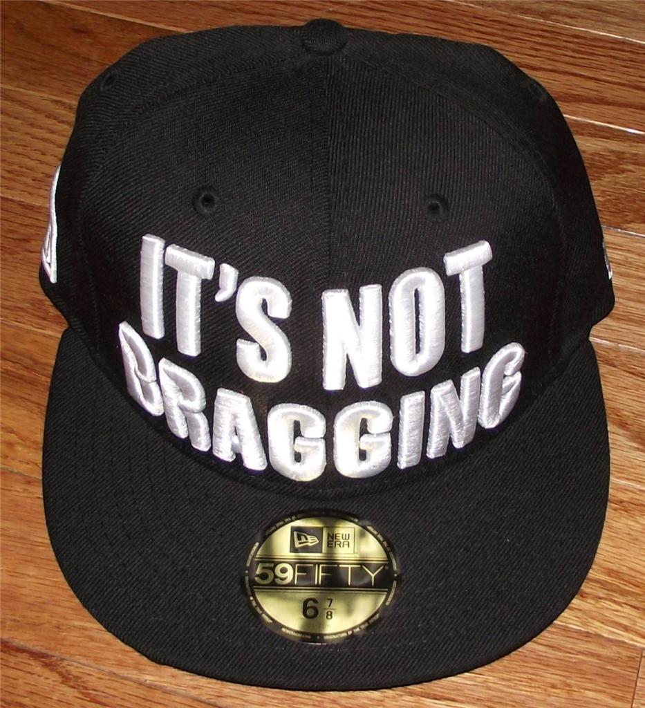NWT-New-Era-Muhammad-Ali-It-039-s-Not-Bragging-Fitted-Hat-100-Wool-ALL-Sizes-59Fift