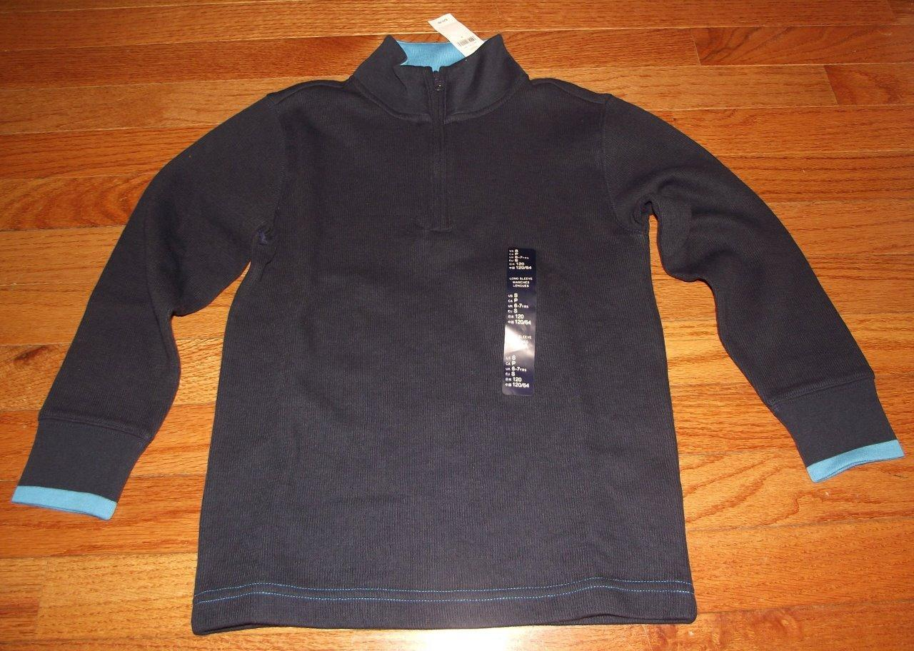 NEW NWT GAP GapKids Boys French Ribbed 1/2 Zip Sweater ...