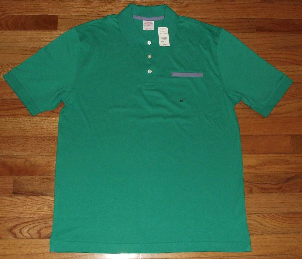 Nwt new brooks brothers mens jersey knit polo shirt fake for Men s polo shirts with chest pocket