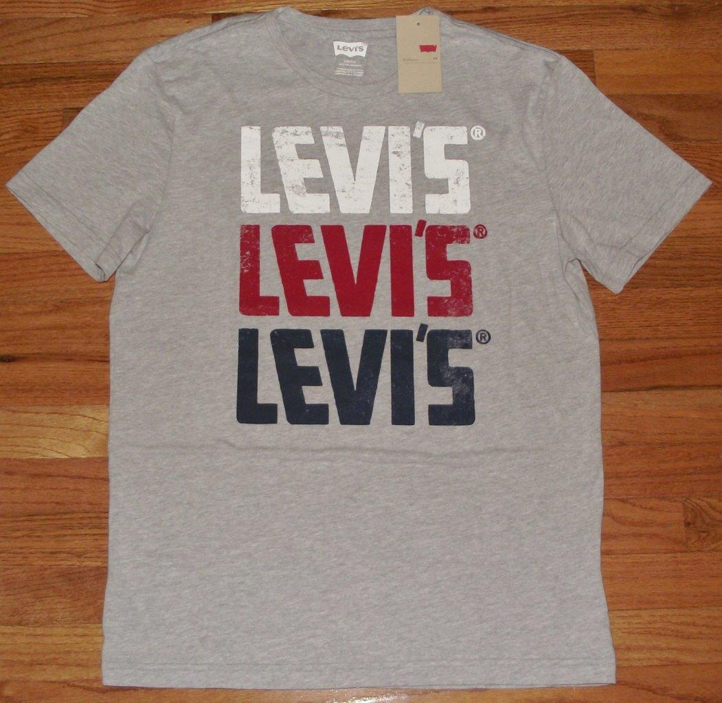 new nwt mens levi strauss levi 39 s t shirt graphic logo tee. Black Bedroom Furniture Sets. Home Design Ideas