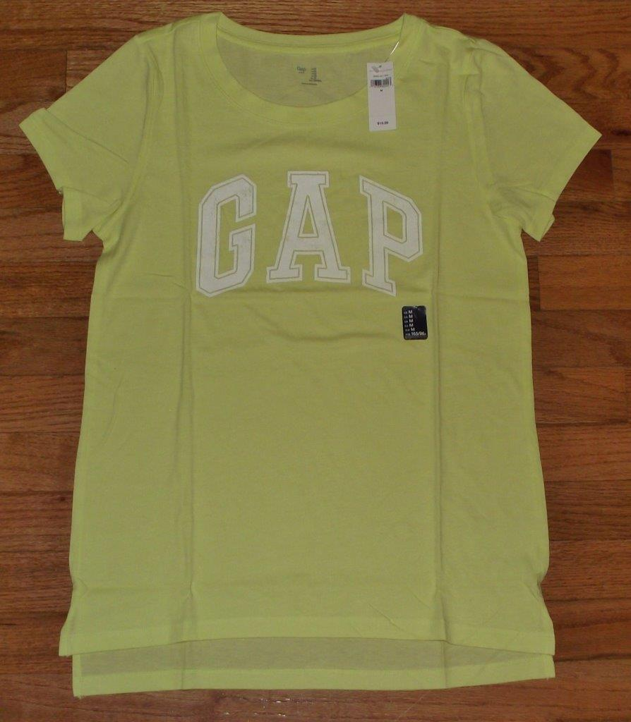 New womens gap distressed arch logo t shirt weekend tee for Gap petite t shirts