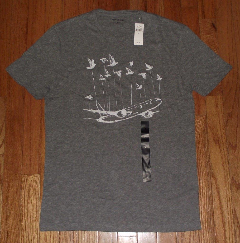 NWT Mens Banana Republic Graphic Logo Elephant Tee T-Shirt ...