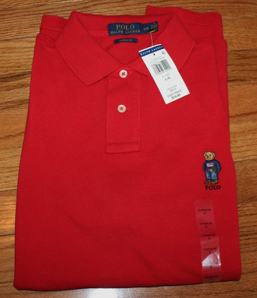 New nwt mens polo ralph lauren polo bear polo shirt sold for What stores sell polo shirts