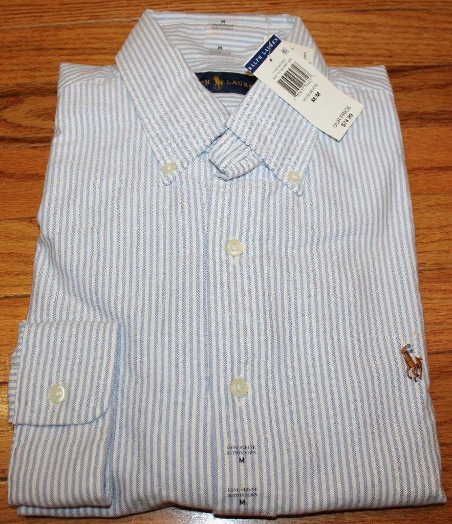 Nwt polo ralph lauren mens long sleeve button down oxford for Men s oxford button down shirts