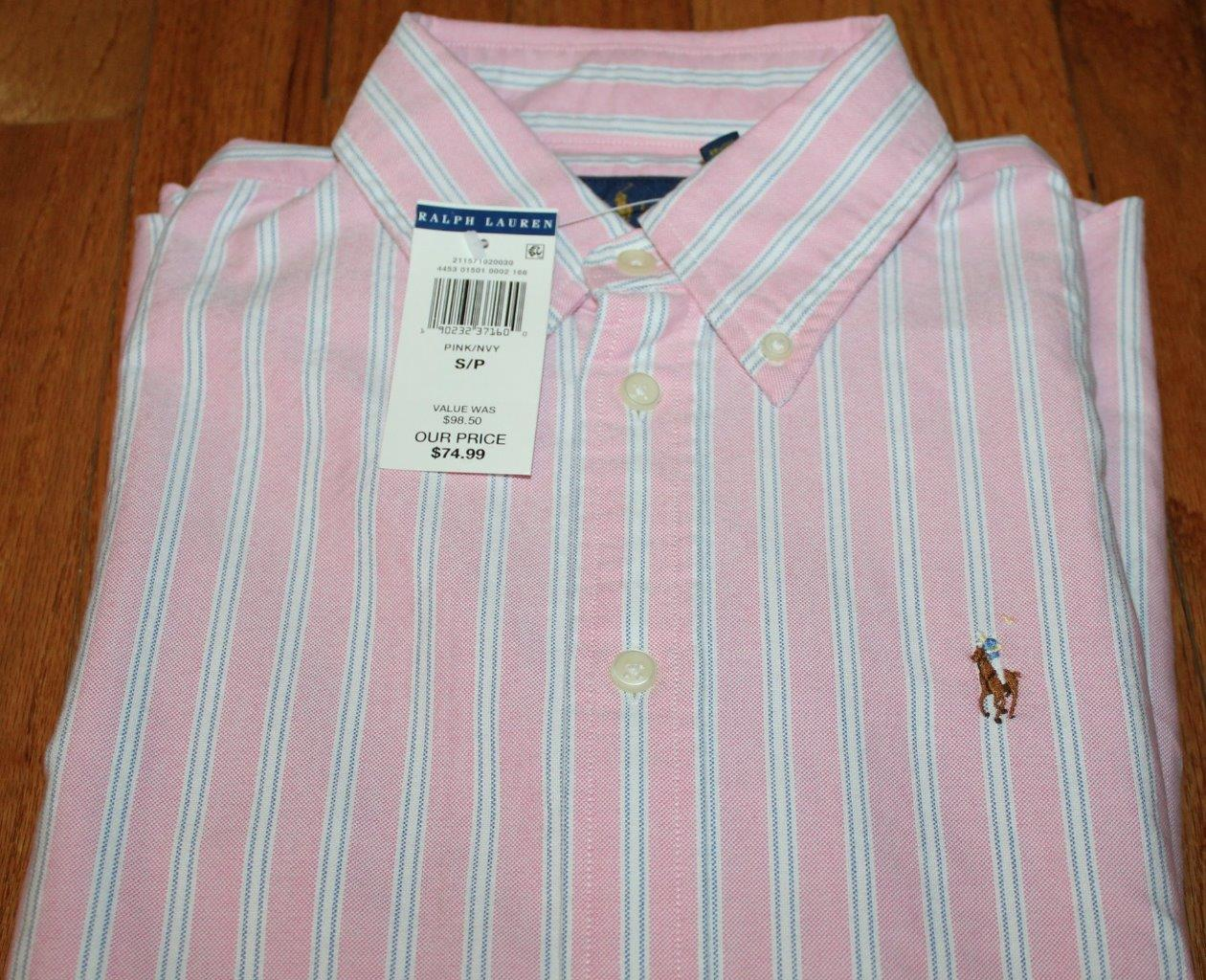 New polo ralph lauren womens long slv button down oxford for Women s button down dress shirts