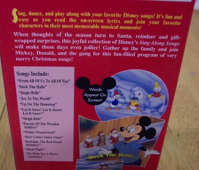Disney Sing Along Songs VERY MERRY CHRISTMAS VHS