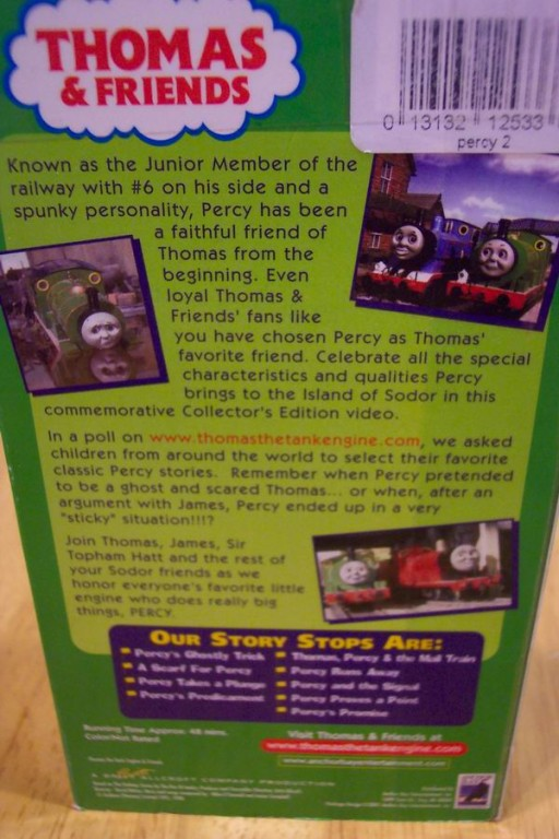 Thomas the tank engine the best of percy vhs video for A href decoration none