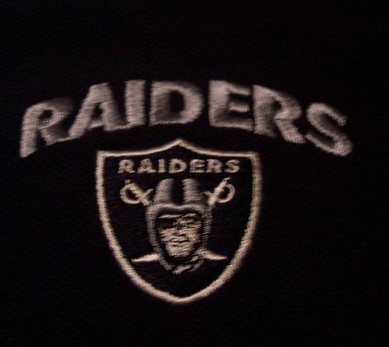 Oakland Raiders Nfl Polo T Shirt Large New W Tag Ad