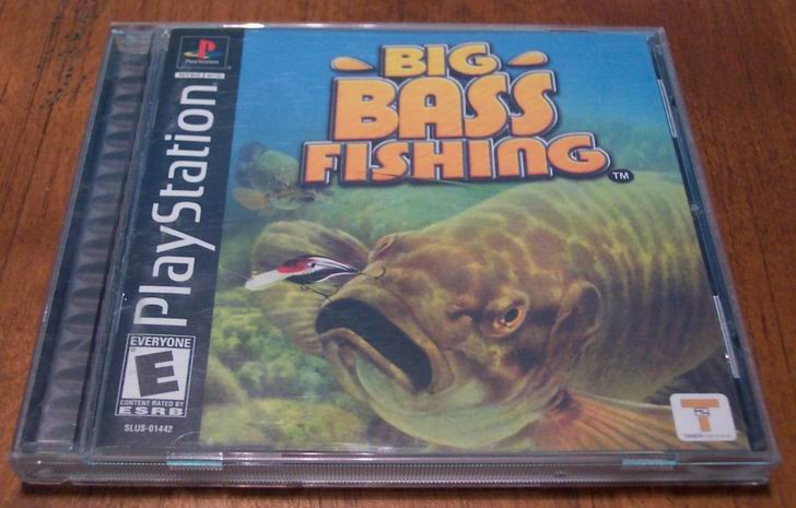 Big bass fishing ps1 playstation game tested ps2 ps3 ad for Ps3 fishing games