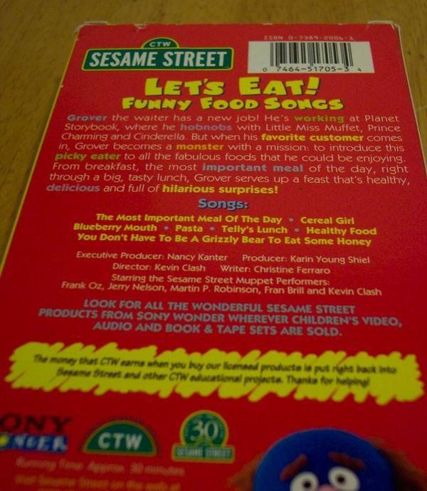 sesame street let s eat funny food songs vhs video 074644935936 ebay