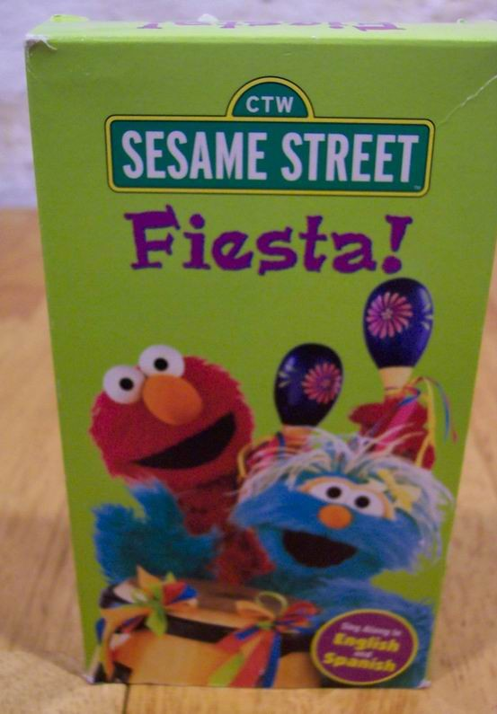 Sesame Street FIESTA English And Spanish VHS VIDEO 2425651 on sesame street quiet time movie