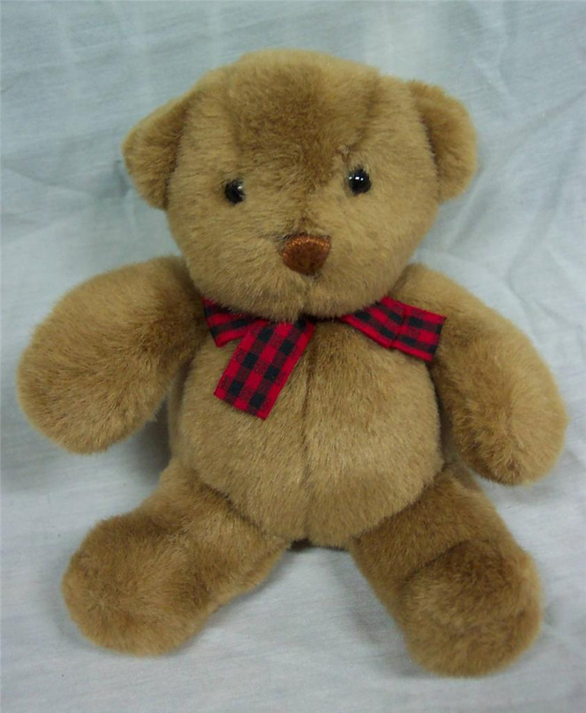 Gund BEARISH THE LITTLE BROWN TEDDY BEAR W/ RED BOW - Ad ...