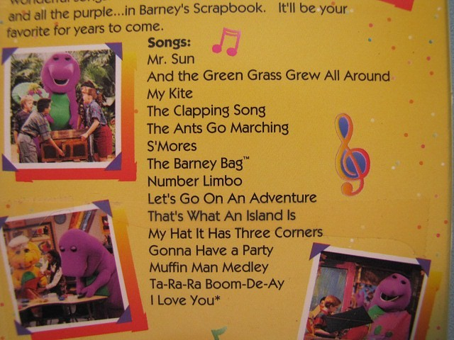 Images Barney Musical Scrapbook
