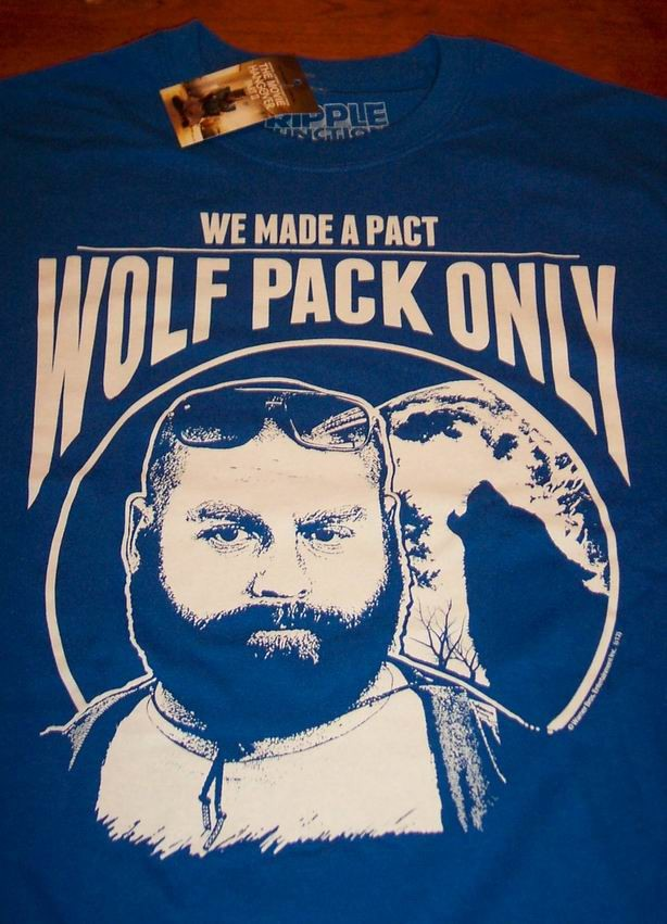 the hangover wolf pack only t