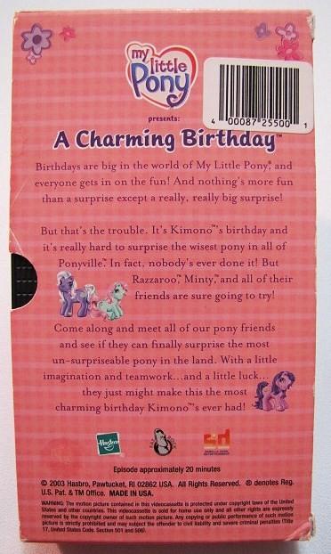 my pony a charming birthday vhs ad