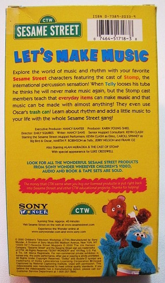 Sesame Street Sing Hoot And Howl Vhs Sesame Street LET'S MA...