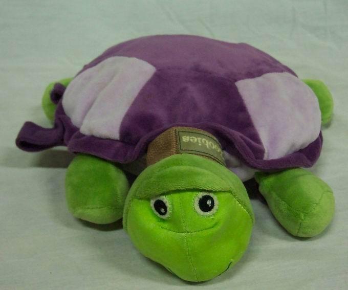 Animal Pillow Blanket Inside : Zoobie PURPLE & GREEN TURTLE W/ PURPLE BLANKET - Ad#: 3181628 - Addoway