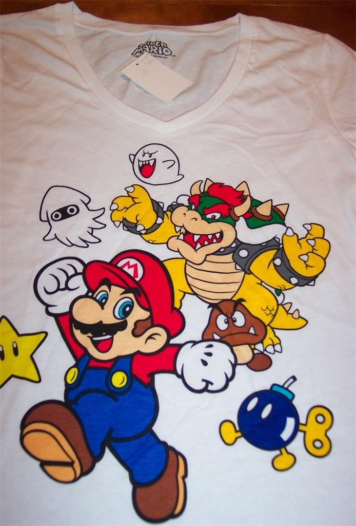 Women 39 s teen nintendo super mario bros t shirt small new for A href decoration none
