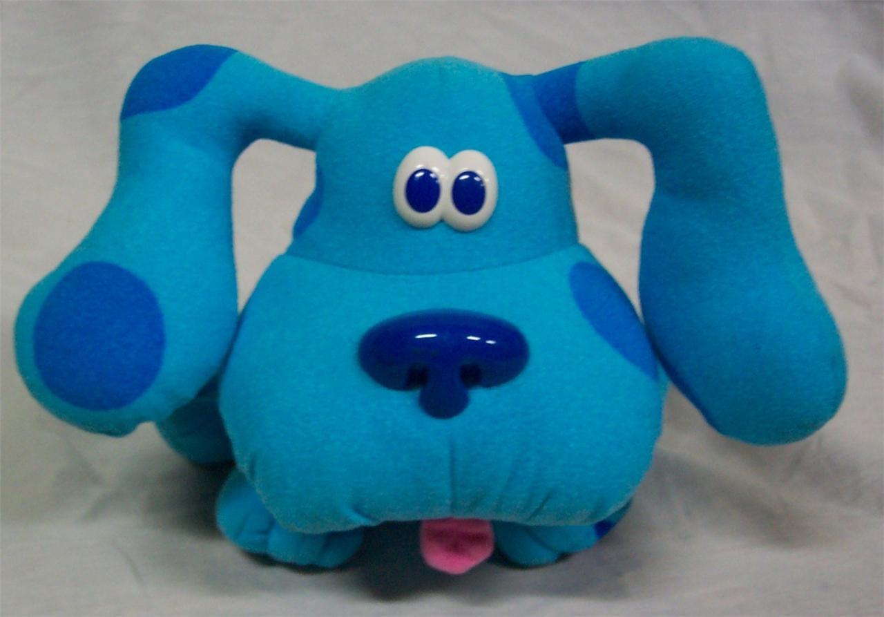 tyco blue 39 s clues pose a blue poseable blue dog 7 plush stuffed animal toy ebay. Black Bedroom Furniture Sets. Home Design Ideas