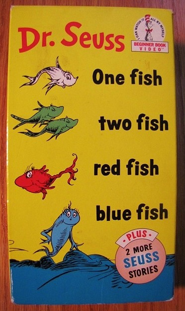 One fish two fish red fish blue fish book cd book and cd for Dr seuss one fish two fish