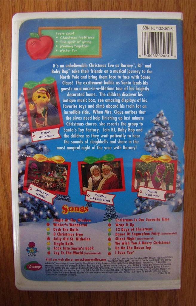 Pics photos barney barney s night before christmas vhs video tape