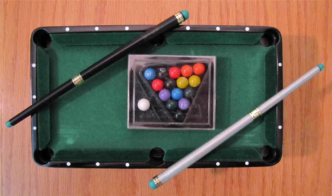 Mini billiards pool table toy game christopher hayes ad for Supreme 99 table game