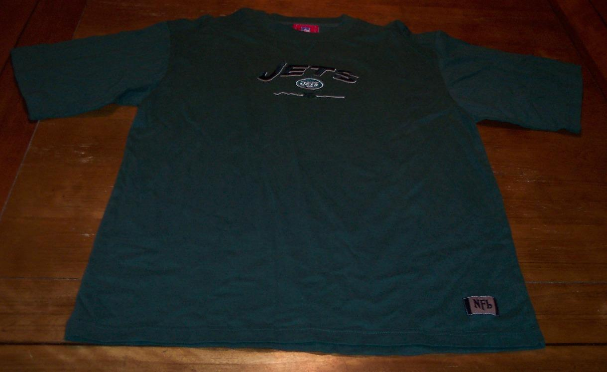 New york jets nfl football embroidered t shirt large ad