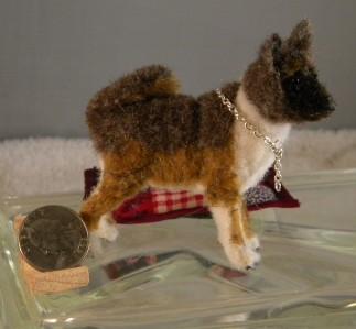 ... -Street Ooak Handmade Faux-fur miniature AKITA collectible mini dog