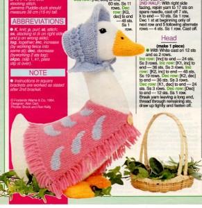 Jemima Puddle Duck Knitting Pattern : ALAN DART JEMIMA PUDDLE-DUCK+PADDINGTON BEAR KNIT PATTERN eBay
