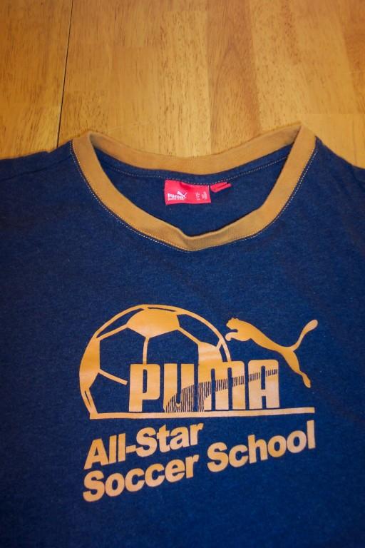 Vintage Style Puma Soccer Football T-shirt Medium