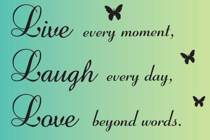 Beyond Words Customizable Wall Decor Kohls : Live every moment laugh day love beyond words custom