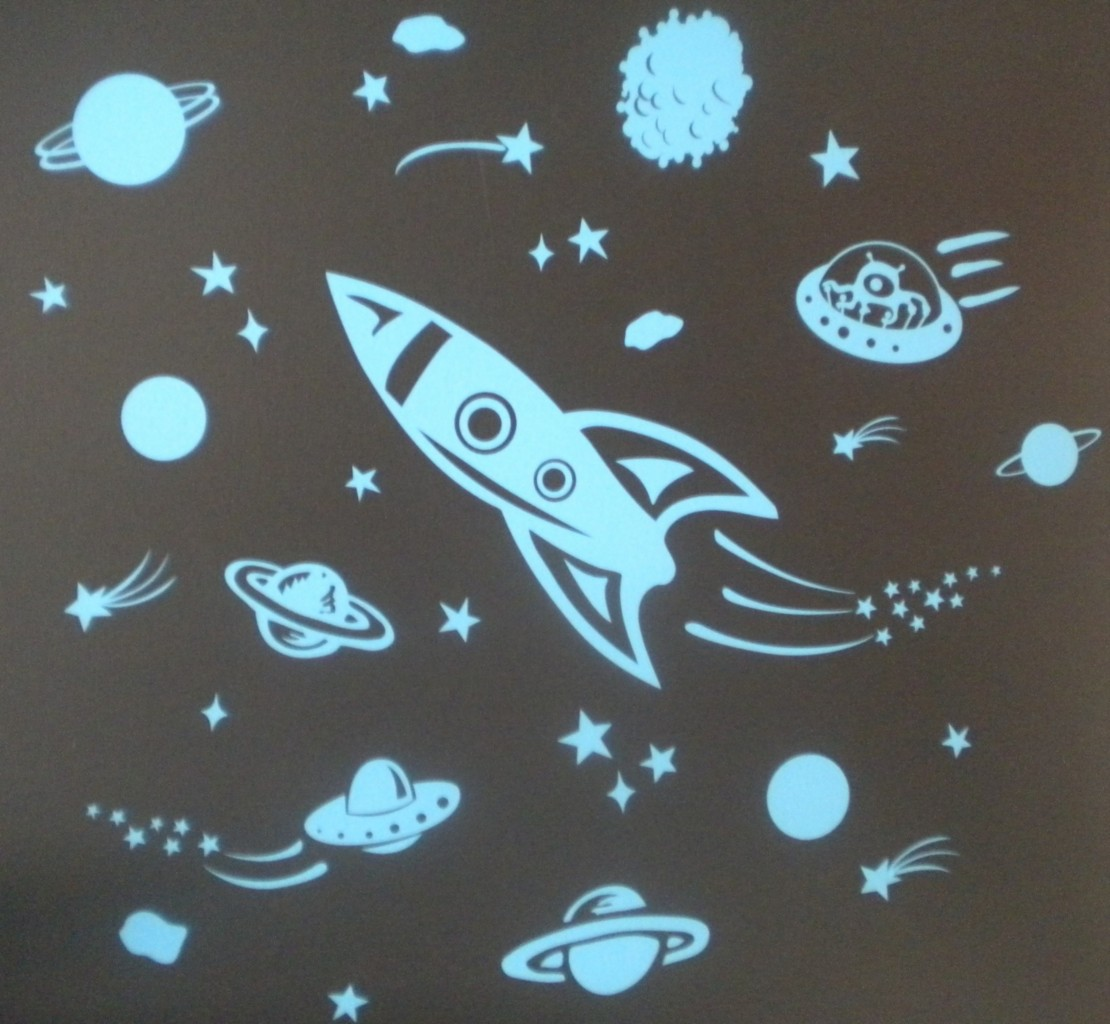 Rocket decals space pics about space for Outer space vinyl wall decals