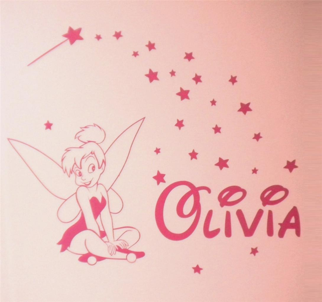 tinkerbell wall decals 2017 grasscloth wallpaper tinkerbell personalised girls bedroom wall sticker kit
