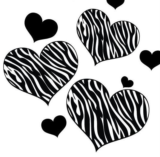 zebra print heart coloring pages - photo #14