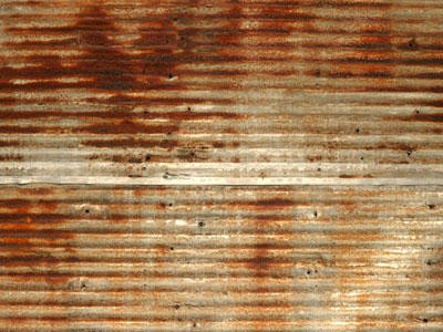 Antique Corrugated Tin Roofing Old Rusty Weathered Ebay